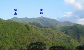 泉山(奥津温泉より)